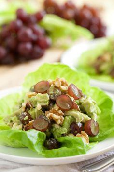 Healthy Chicken Salad with Creamy Avocado Dressing   GI 365