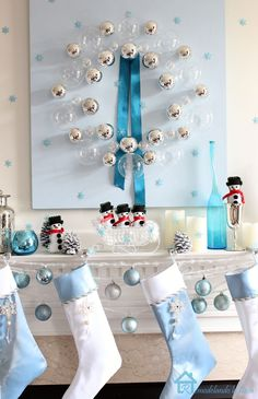 221 Best A Blue Silver Christmas Images Christmas Decor
