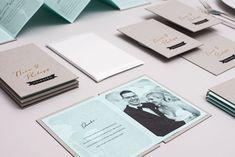 Lovely wedding invitations from LSDK Design + Konzeption. Creative Wedding Invitations, Wedding Invitation Inspiration, Wedding Invitation Design, Wedding Stationary, Invitation Ideas, Invites, Web Design Mobile, Wedding Save The Dates, Grafik Design