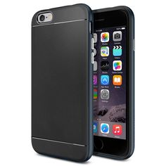 Black Friday Deal iPhone 6 Case, Spigen Neo Hybrid Case for iPhone 6 - Retail Packaging - Metal Slate from Spigen Cyber Monday Cool Iphone 6 Cases, Iphone 6 Plus Case, Best Iphone, Apple Iphone 6, Cell Phone Cases, Iphone 6 Gold, Iphone 4, Hybrid Design, Cyber Monday