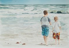 """(T-3rd) Danny Helms - """"Brothers"""" - Watercolor on paper. (Link to portfolio)…"""