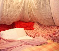 Turn my entire house into the most epic blanket fort ever. :)