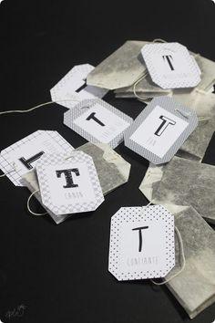 DIY sachets de thé - Free printable - Et puis la neige elle est trop molle: Les T sympa - DIY