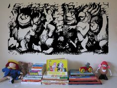 """WILD THINGS Monster Vinyl Wall Sticker Decal 22""""h x 46""""w on Etsy, $49.99"""