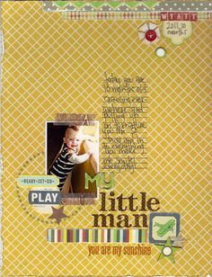 My Little Man - Scrapbook.com