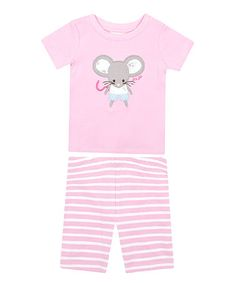 Another great find on #zulily! Pink Mouse Pajama Set - Infant, Toddler & Girls #zulilyfinds