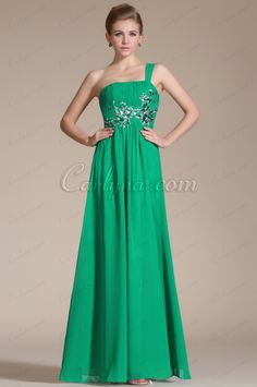 Carlyna 2014 New Adorable Green Embroidery One Shoulder Evening Dress (C36141704)