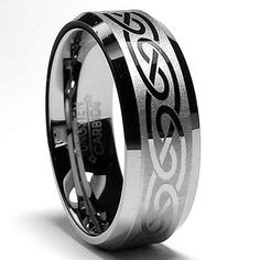 8MM Tungsten Ring with Laser Etched Celtic Design Sizes 8 to 13 Metal Masters…