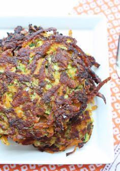 Zucchini & Sweet Potato Latkes - Laura these look great, just use the arrowroot instead of the coconut flour