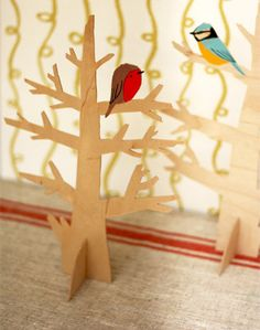 Plywood Robin in Tree by Gerry Turley