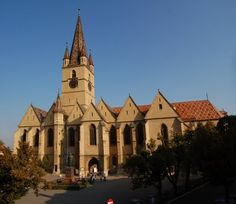 Sibiu Lutheran Cathedral Dark Forest, Lutheran, Medieval Castle, Bucharest, Historical Sites, Alps, Countries, Cathedral, Mansions
