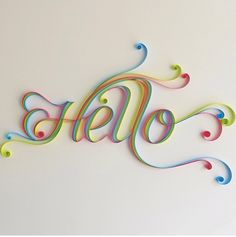 Quilled HELLO, would look great on the front door!