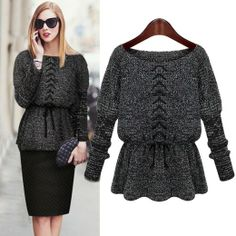 Pullover women winter fashion knitted sweater