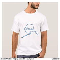 12cf5baa Alaska Outline Map T-Shirt Golf Hoodie, Golfball, Cartoon T Shirts, Fashion