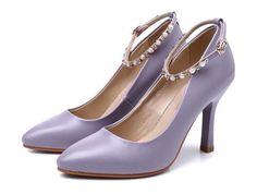 Womens Classy Bead Strap High Heels
