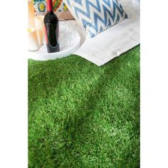 nuLOOM Artificial Grass Outdoor Lawn Turf Green Patio Rug (5' x 8')…