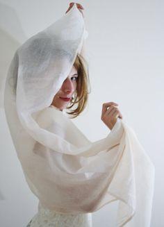 ivory bridal Shawl ivory bridal wrap sheer by WildRoseAndSparrow, $29.00