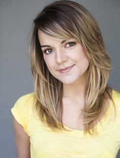 Medium Cut Layered Medium Fringe Hairstyles 2014 with central Parts and Side Bangs