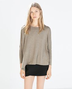 ZARA - WOMAN - PLUSH T-SHIRT
