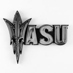 Arizona State Sun Devils Logo 3D Chrome Auto Decal Sticker NEW! Truck or Car