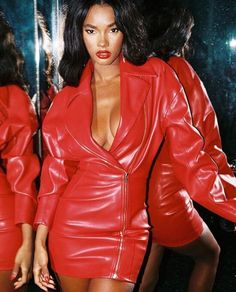 Ask and Tell: House of CB Georgia Dress Spotted on Fantasia! Leather Jacket Dress, Leather Dresses, Daily Fashion, Fashion News, Fashion Fashion, Dress Fashion, Womens Fashion, Leder Outfits, House Of Cb