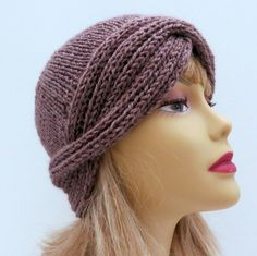 Knitting Pattern Vintage Hat Downton Cloche by WomanOnTheWater