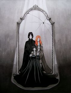 Harry Potter, Lily Evans, Severus Snape, Harry Potter (Character), The Mirror Of Erised, Broken Glass, Different Reflection, Faceless, Death Eaters