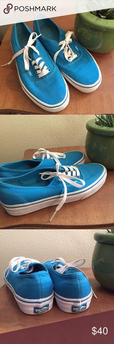 Blue Vans Blue tie vans Vans Shoes Sneakers