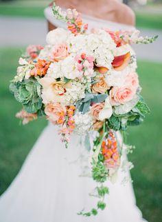 UBetts Rental & Design } Gorgeous coral and mint bouquet