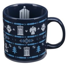 #DoctorWho Ugly Sweater themed ceramic mug!   Get it NOW!