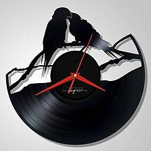 2 birds in love - LP vinyl clocks