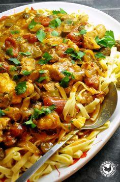 Farmgirl Gourmet: Delicious Recipes for the Home Cook.: Chicken & Buffalo Andouille Cacciatore