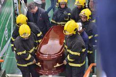 Missa de corpo presente do atacante e saída para enterro.  Foto: Felipe Bonfim