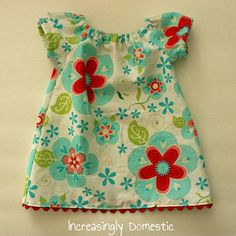 peasant dress - link to pattern  who has a baby girl? i want to make one