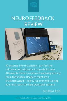 """This just in from one of our repeat renters; """"40 seconds into my session I can feel the calmness and relaxation in my whole body. Afterwards there is a sense of wellbeing and my brain feels sharp. Ready to meet life's challenges again. I highly recommend training your brain with the NeurOptimal® system!"""" Read more reviews from our clients to see if neurofeedback at home is for you. Train Your Brain, Life Challenges, Brain Waves, Brain Training, Feeling Sick, Stressed Out, Stress Relief, Repeat, Health And Wellness"""