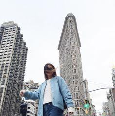 Flatiron again #collageontheroad #ny #nyfw (en Flatiron Building)