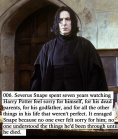 I never got the feeling that HP felt sorry for himself actually.  Sad - sure...  but I didn't get the pity party feeling.