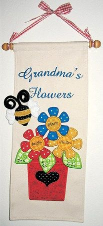 Flower Power Machine Embroidery