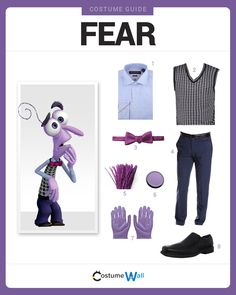 Dress Like Fear from the movie, Inside Out. See more costumes and cosplays of Fear.