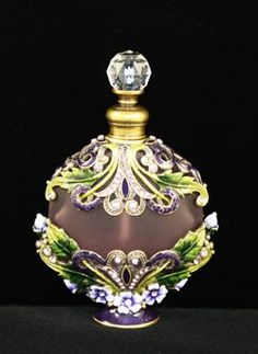 Decorative Jeweled Vintage Perfume Bottle.