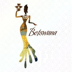 Logo. Beauty, grace and elegance is captured in this unique and distinctive design of a beautiful stylized African women figure balancing several coffee or tea cups in her hand.