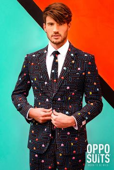 A Wonderful Pac-Man Suit With Matching Tie