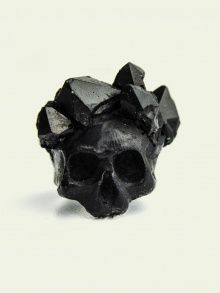 BLACK SKULL WITH CRYSTAL CROWN    JEWELLERY/ RINGS    MACABRE GADGETS   NOT JUST A LABEL size 7