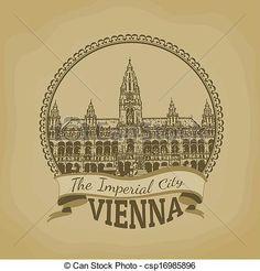 Viena, (, el, imperial, City), Postal - csp16985896