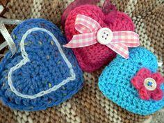 Crochet heart. Horgolt szívek.