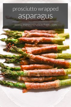 Prosciutto Appetizer, Prosciutto Wrapped Asparagus, Appetizers, Easy Weeknight Dinners, Easy Meals, Vegetable Recipes, Veggie Dishes, Asparagus Recipe, Creme