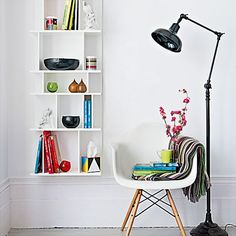 Asymmetric living room shelves | Living room designs | Bookshelves | image | Housetohome