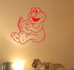Elmo Reading a Book Wall Decal by BigDDesign on Etsy, $6.00