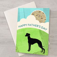Whippet Father's Day Card by WellBredDesign on Etsy