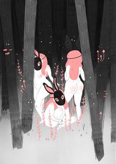 The Black Hare by Manu Montoya #illustration